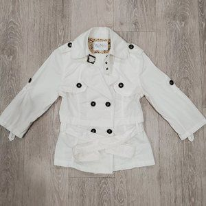 MaxMara Women White Lightweight Trench Coat